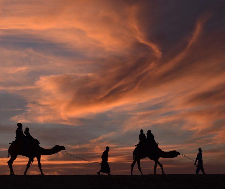Sunset at thar desert